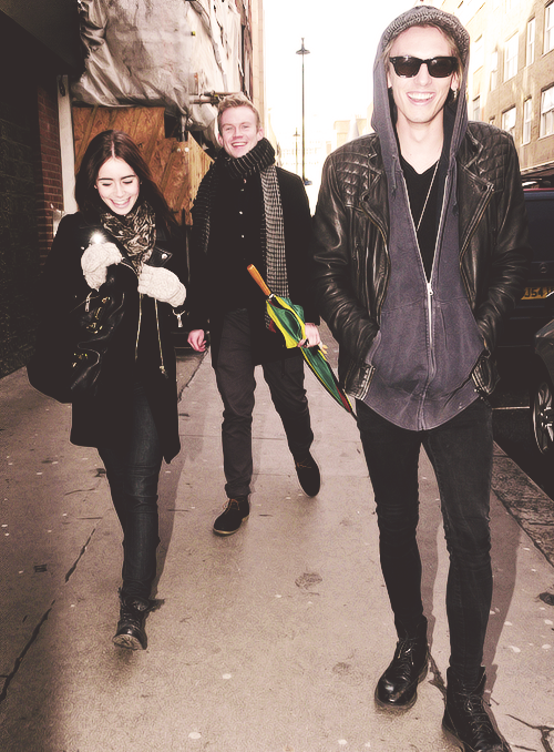 Lily Collins & Jamie Campbell Bower  Out and about in London - February 1, 2013