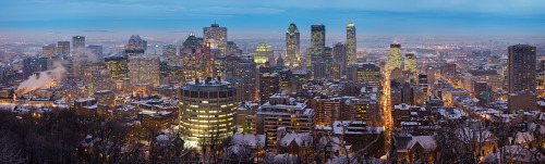 tiredandtrueofheart:  Montreal winter skyline