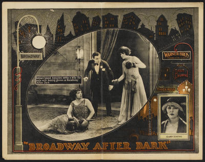 Lobby card for Broadway After Dark (1924). Sold here.