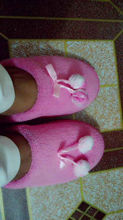 My cute new slippers.