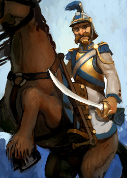 cavalry card illustration for Battle for York