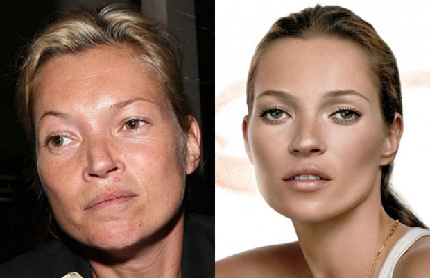 Kate Moss without makeup.
