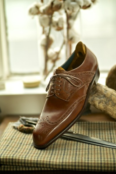 ethandesu:  Derby Full Brogue in Calf and Russian Spigola Bespoke by Koji Suzuki