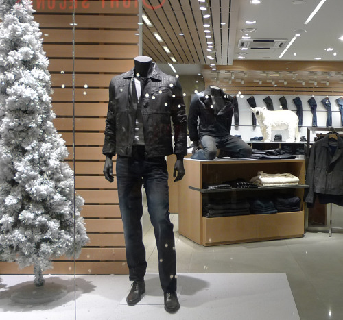 White Christmas.  Calvin Klein Jeans, Seoul, South Korea.  Holiday 2012.