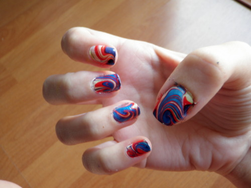 coralreefcat  my water marble design :)