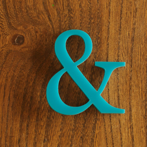 betype:   Ampersand Brooch Turquoise  Get inspired on Betype.co