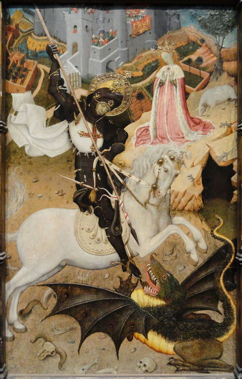 adelinedespanet:  Bernat Martorell, Saint George Killing the Dragon, 1434-35