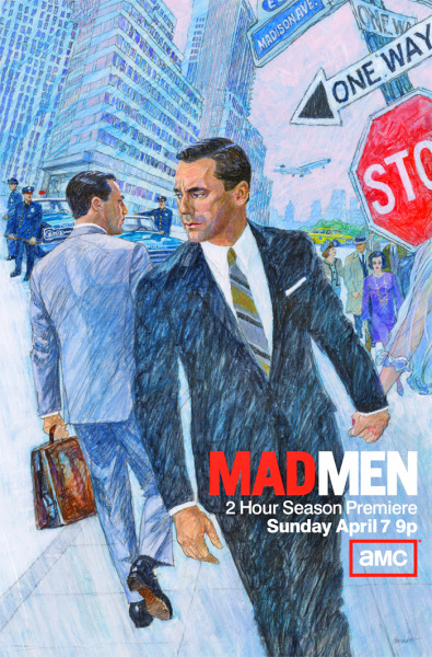"I tempi che cambiano. «For season six of ""Mad Men"", creator Matthew Weiner decided to promote the series with advertisements inspired by the '60s illustrations that play such a large part in the show. He gave the marketing team hand-selected advertising materials from the era, but he was disappointed with the results. Weiner tells The New York Times that the marketing team eventually ""Just looked up the person who had done all these drawings that I really loved, and they said: 'Hey, we've got the guy who did them. And he's still working'"". The 75-year old British illustrator was brought on for the job, and his image will be used to promote the show in subways, on buses, and across magazines, newspapers, and billboards starting this week and leading up to the season premier on April 7th. THE VERGE"