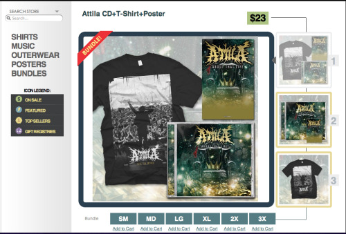 Go to Attila.merchnow.com and order a bundle! help support my homeslices before the new album drops! Plus. I took that picture (sweet Brag)