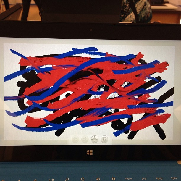 My work of #art using #FreshPaint on the #MicrosoftSurface. #microsoftfl @microsoftstore  (at Microsoft store Dadeland)