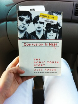I bought a new book today! I don't know much about Sonic Youth and I've only listened to a handful of their records ha, so i'm super excited to start reading this. woo.