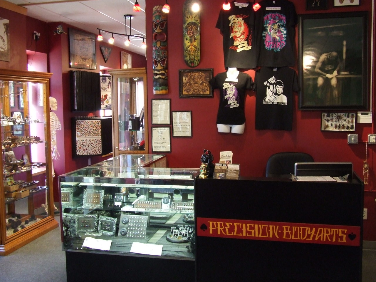 Precision Body Arts tattoo and piercing studio. Nashua, New Hampshire.  www.precisionbodyarts.com
