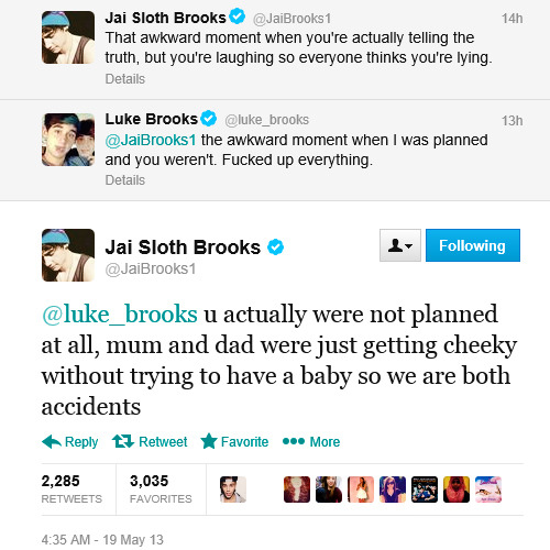 whorebrooks:  ilovethosejanoskianboys:  they get on so well   I love twin arguments