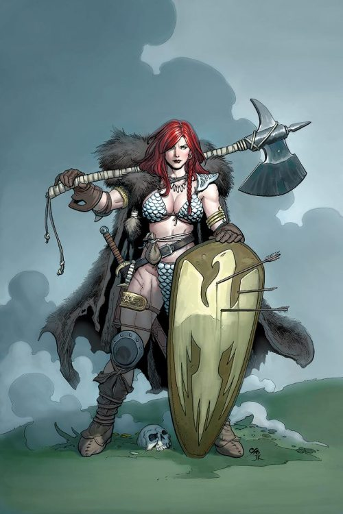 decarus77:  I love me some Red Sonja but damn girl, find yourself a new blacksmith. That armor can't be help your AC any…
