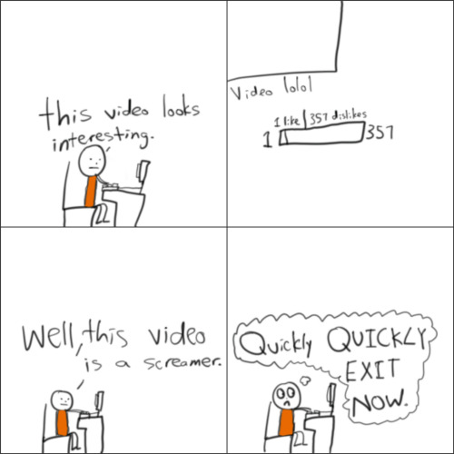 Comic 4- Screamers I hate these types of videos.