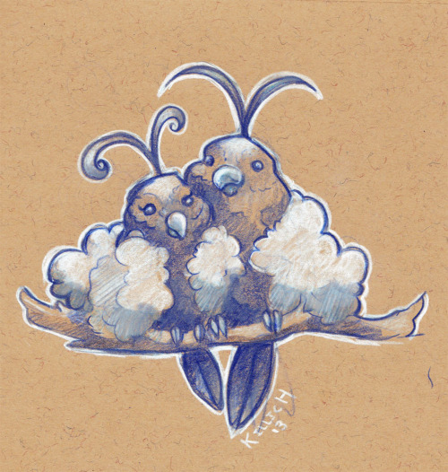 robinpancakes:  pokemonroll:  #333! Katherine Illich  For the love of Swablu. I finally got back on the roll…of drawing pokemon!  Dis da shit brah.