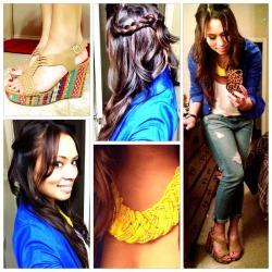 #OOTD: 4.20.13 boyfriend jeans + bright colors + braidsView Post