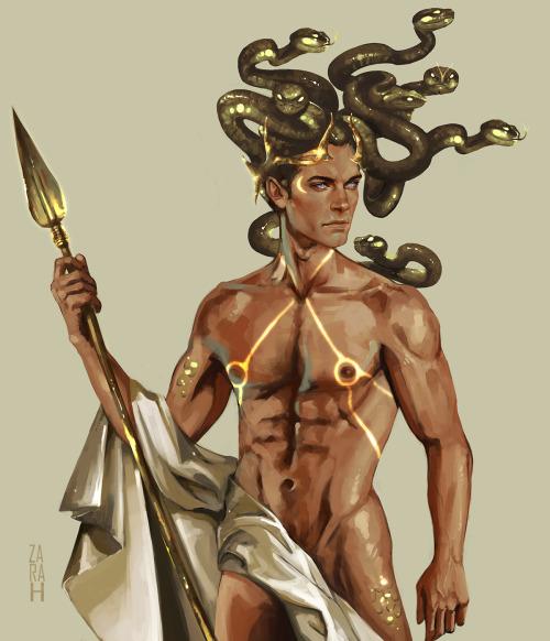 za-ra-h:Greek mythology reimagined; Perseus as Medusa. Finally got around to finishing this!