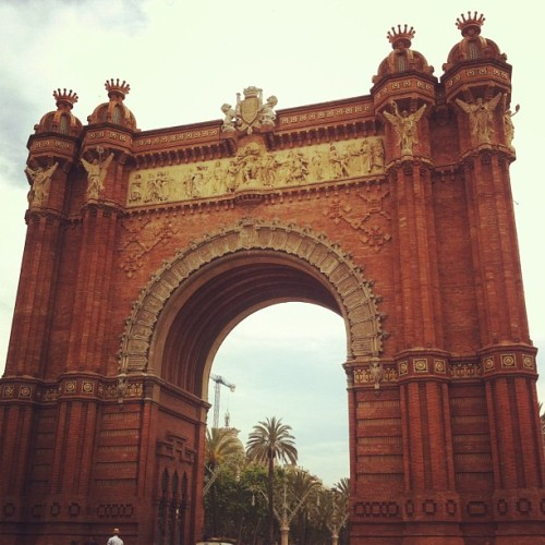 Did you know that Barcelona also has an Arc du triumph? Yea, me neither.  (at Arc de Triomf)