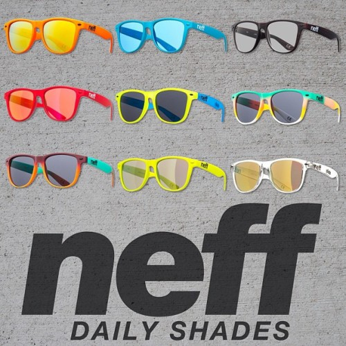 WANT TO WIN ALL OF THESE NEFF DAILY SHADES? All you have to do is..  1. Like this photo  2. Reblog this photo  3. Follow Neff Headwear on Tumblr (www.neffheadwear.tumblr.com)  You may reblog as many times as you want.  A winner will be chosen at random next Friday (4/19)!  GOODLUCK!