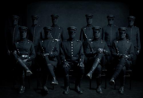 horror nightmare uniforms masks Juha Arvid Helminen art creepy scary dark darkness