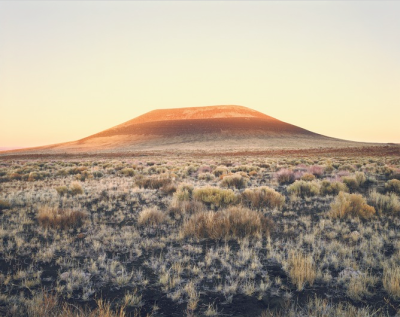 "cavetocanvas:  James Turrell, Roden Crater (Sunset), 2009. Color carbon print, 29-3/4"" x 38-1/4"" Image via the Pace Gallery. From the Pace Gallery's Press Release:  James Turrell: Roden Crater and Autonomous Structures will be on view at 32 East 57th Street from March 15 through April 20. The exhibition will focus on the Roden Crater, an extinct volcano in the Painted Desert of Northern Arizona that Turrell has been transforming into a monumental work of art since the 1970s. One of the most ambitious projects ever envisioned by an artist, Turrell's masterwork will convert the inner cone of the 400,000-year-old crater into a massive naked-eye observatory, designed specifically for viewing and experiencing skylight, solar, and celestial phenomena. Pace will present bronze and plaster models of spaces within the crater, as well as photographs of the project by Turrell, including the first known aerial photo of the Roden Crater, taken from the artist's plane."