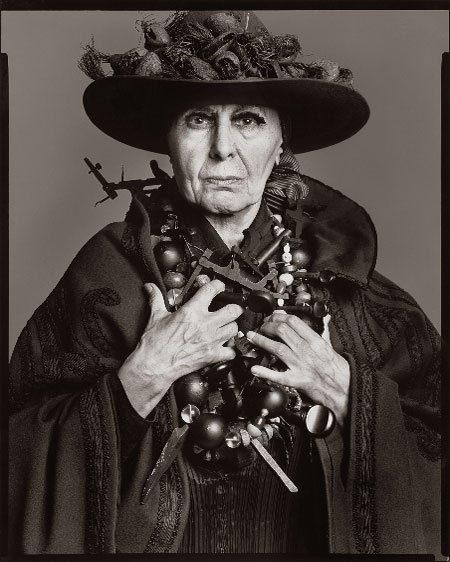 Louise Nevelson Photographed By Richard Avedon, 1975
