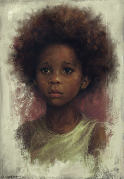 "samspratt:  ""Quvenzhané Wallis Study"" - by Sam Spratt AKA the 9 year-old best actress Oscar Nominee. My accomplishments at Age 9: I had a Teenage Mutant Ninja Turtles lunchbox? End of list.   Ha! Beautiful"