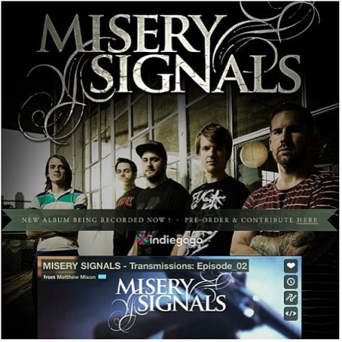 Please check out @miserysignalsofficial and their new indiegogo campaign to fund their new album. Best guys, best band