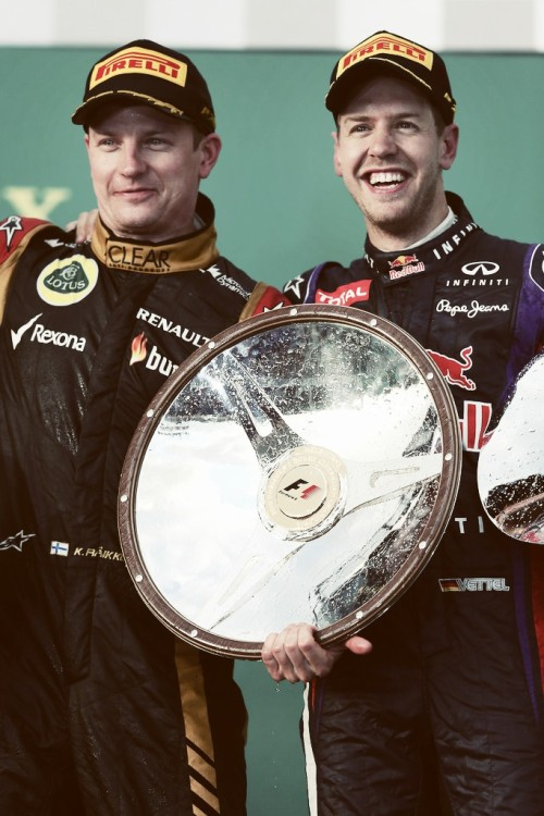 teandkimi:  4/50 photos of Kimi Raikkonen and Sebastian Vettel (Simi)
