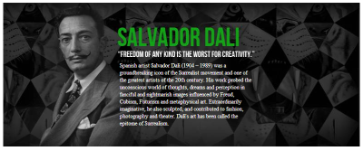 Salvador Dali   An Ultimate inspiration from a young age.