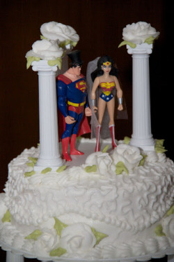 And Of Course Our Cake Topper Was Superman Wonder Woman DUUUUH