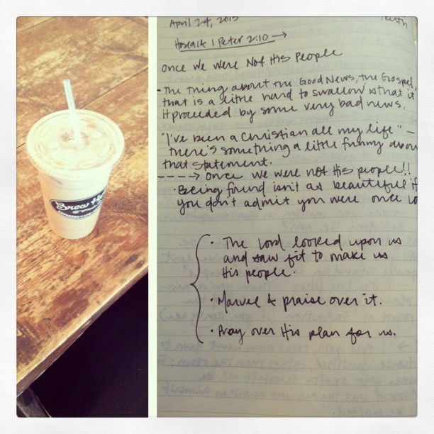 morning coffee and a new plan. #shereadstruth
