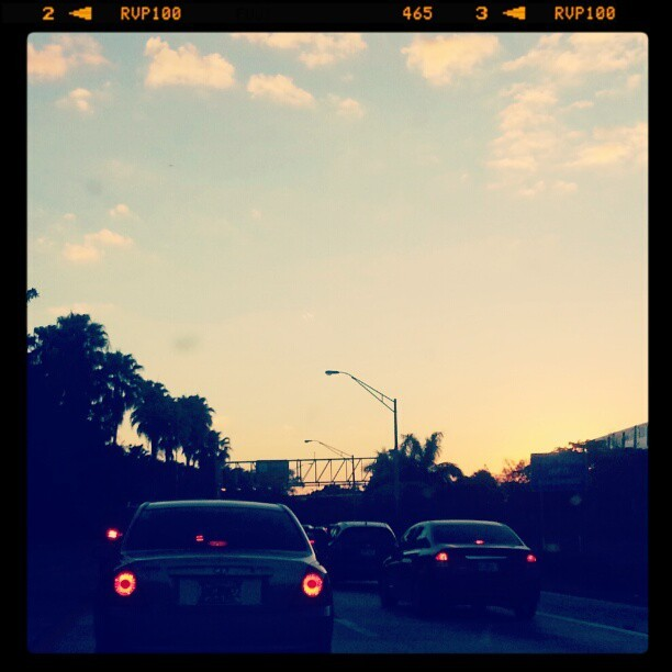 To be 0.3 miles yet 27 mins away!! #miamI #traffic At least a #beautiful #view xo