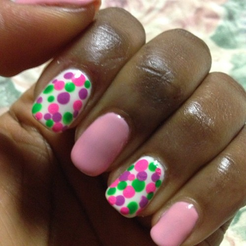This weeks mani… Practicing with my dotting tool…                                     #mani #gelish #nails #nailart #nailpics #nailswag #nailsdone #nailsoftheday #nailpolish #naildesign #nailartlover #nailstagram