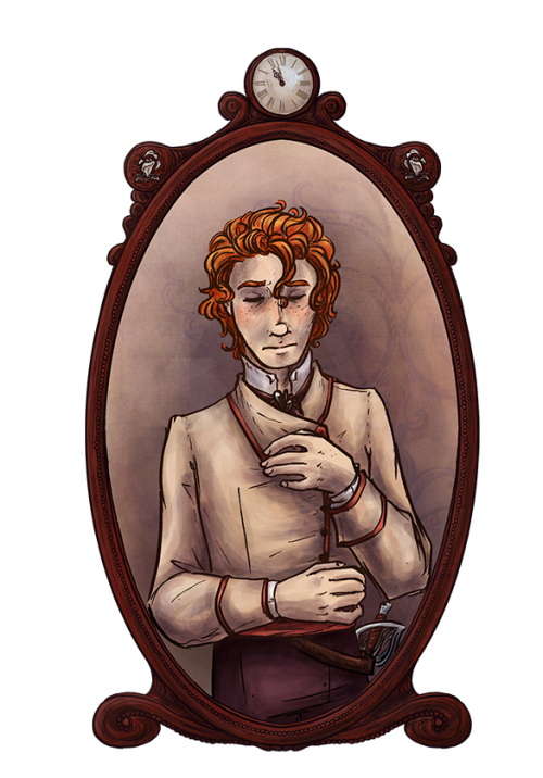 Prince Roran of Hearts for the character page.  The pose he is in is how the people of Ruan lay their dead to rest. Important characters in Hearts of Roese that are in the interludes and dead by the time the main story starts will be in this pose for reasons.