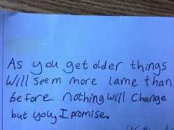 figmentdotcom:  sketchmedesire:  A sixth grader's advice to future sixth graders.  … Damn, kid. You speak truth.
