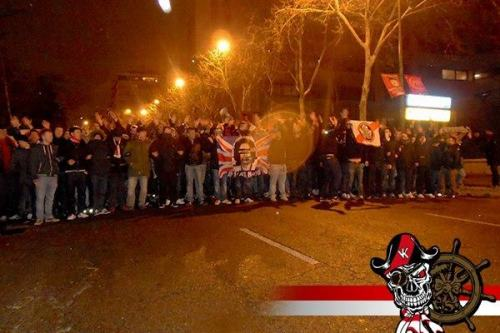 allxstars:  BUKANEROS ON A DERBY NIGHT AT SANTIAGO BERNABEU…..FUCK REAL MADRID!ADRV OR DEATH!