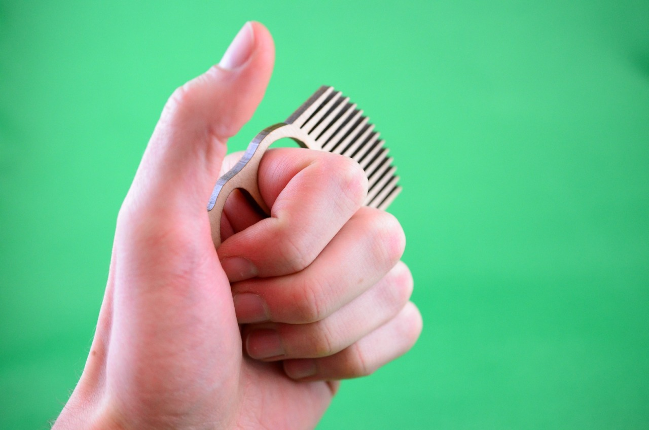 Just added to the online shop, beard comb knuckle duster!