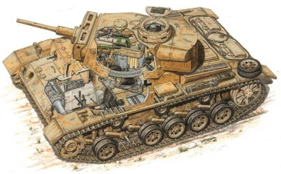 georgy-konstantinovich-zhukov:  Cut-away drawing of a Panzerkampfwagen III Ausf. J. (Mike Chappell)  Used to love this shit when I was a kid. I had a book of tanks and military vehicles illustrated in profile, and I used to copy them by hand into drawings of battlefields. The soldiers were only stick figures, but damn their vehicles were mackin.