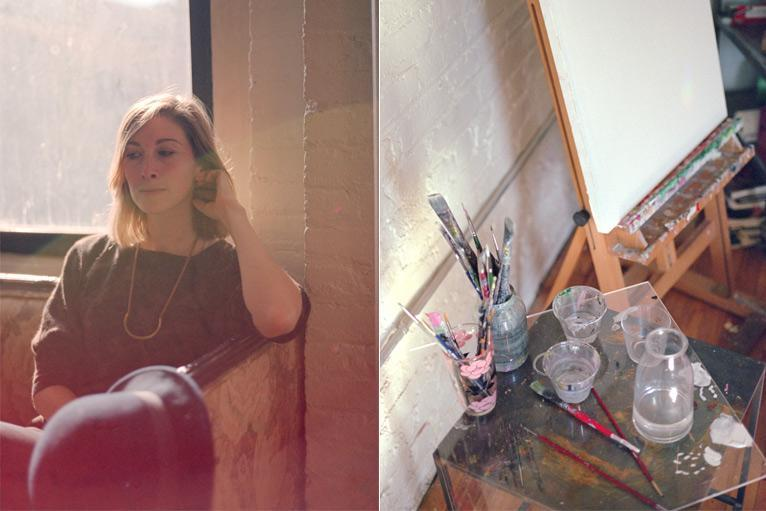 From my studio visit with Post-New.  Photos by Clément Pascal.