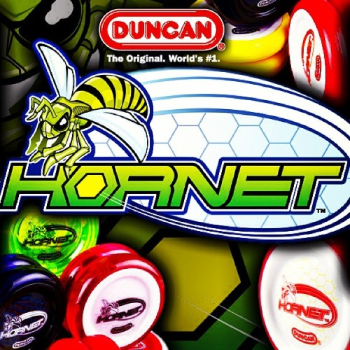NEW RELEASE!  The Duncan Hornet is the first looping yoyo from Duncan Toys specifically designed for high-end competition play, and it's a huge leap forward for Duncan!   The Hornet is a bearing looper designed with a better rim-to-center weight ratio making it a great choice for high-speed looping and wraps. Designed with input from Duncan Crew Worldwide, the Hornet is player-tested and competition-ready.  @DuncanToys  http://shop.yoyoexpert.com/product/926/Duncan-Hornet