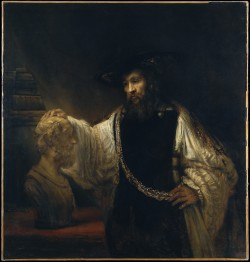 didoofcarthage:  Aristotle with a Bust of Homer by Rembrant van Rijn  Netherlands, 1653 oil on canvas Metropolitan Museum of Art