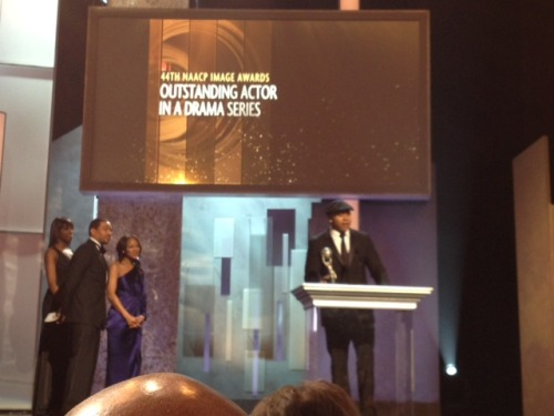 Here's a photo of #NCISLA's @llcoolj accepting his @naacpimageaward!