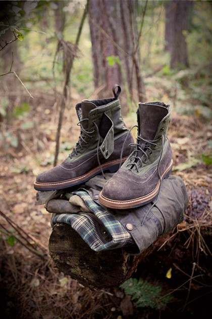 Barbour x Forest of Gingko Boots