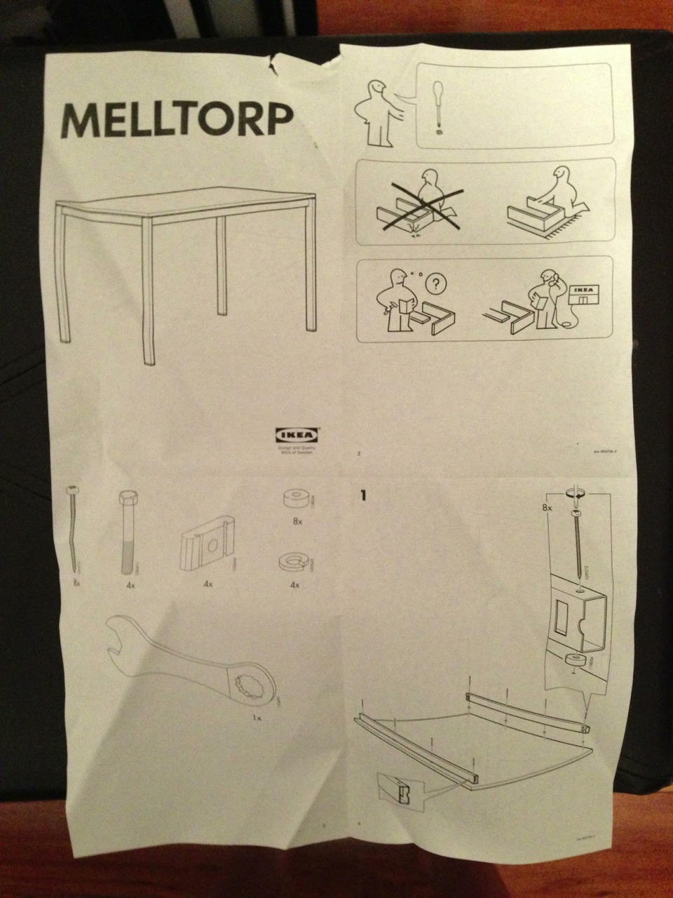 I just realized ikea instructions don't have any words on them. That way, there's nothing to translate!