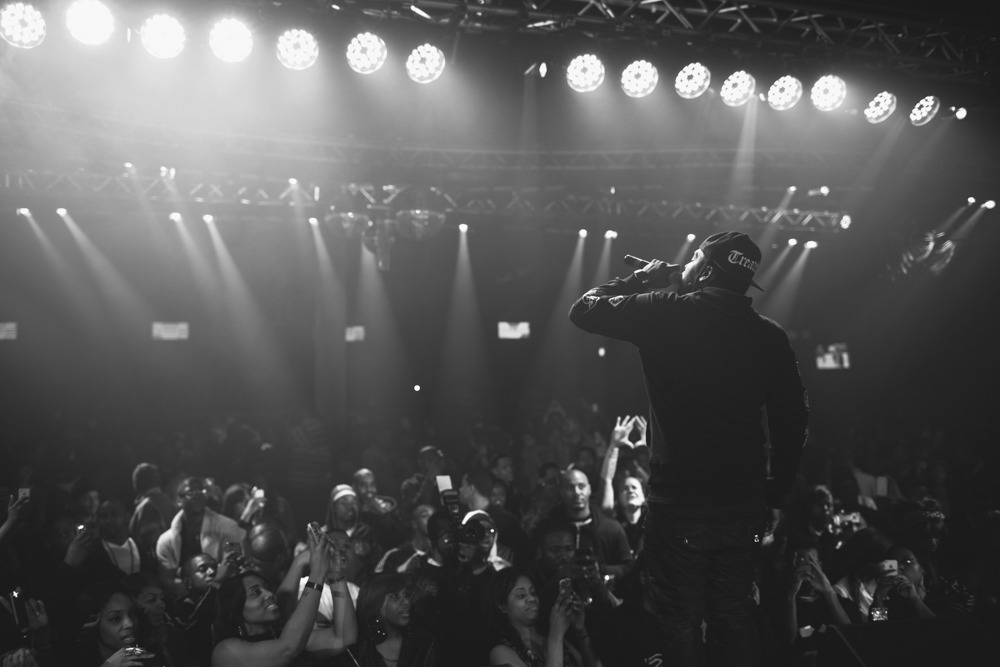 random extra shot from the Pusha T show a while back… shouts to the #TreatedCrew homies.