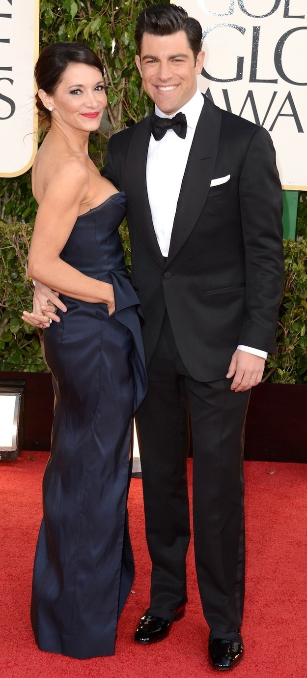 max greenfield and tess sanchez, golden globes 2013