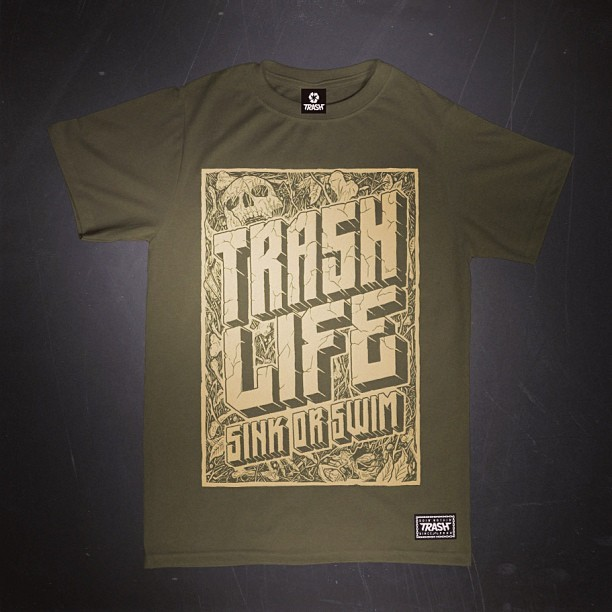 #trash #trashlife #illustration #handmade #ink #tshirt #design #sink #or #swim #clothing #fuckswag #aaaghr