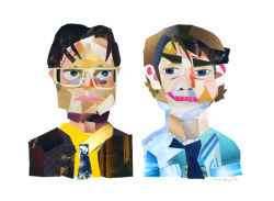 eatsleepdraw:  Dwight and Jim